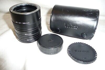 Extension tube VIVITAR AT-21 36 20 12 mm OLYMPUS mount NEW NEW   X14