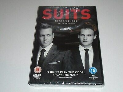SUITS Season Three DVD Box Set (Region 2) NEW SEALED Gabriel Macht Meghan Markle