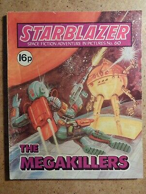 Starblazer Comic No.60: The Megakillers. Space Fiction In Pictures 1981