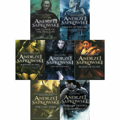Witcher Series 7 Books Young Adult Collection New Paperback By Andrzej Sapkowsk
