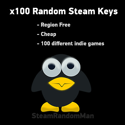 x100 Random Steam Keys - REGION FREE + BONUS (9$+ game)
