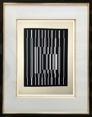 "Victor Vasarely (1906-1997) Ancienne Lithographie "" Cynetique "" Denise Rene (1)"