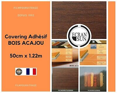covering adhesif BOIS ACAJOU - thermoformable - (50 cm x 1.22 m)