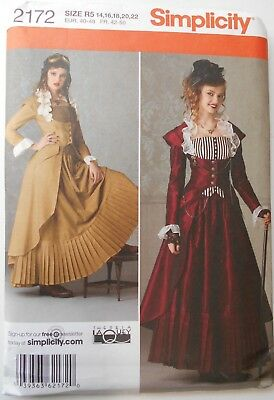 SIMPLICITY PATTERN 2207 Misses Victorian Steampunk Arkivestry
