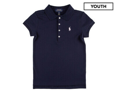 Polo Ralph Lauren Youth Stretch Mesh Polo Tee / T-Shirt / Tshirt - French Navy/H