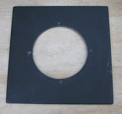 genuine Sinar F & P  lens board panel with large 74mm hole