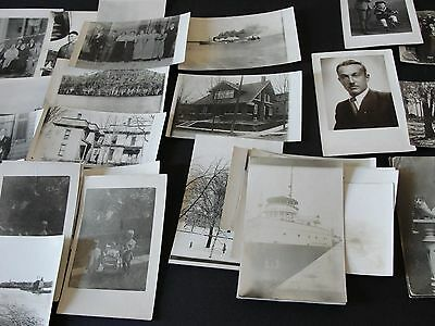 Vintage Real Photo Postcards -Lot of 30+ People-Places, Industrial, Sea, Things!