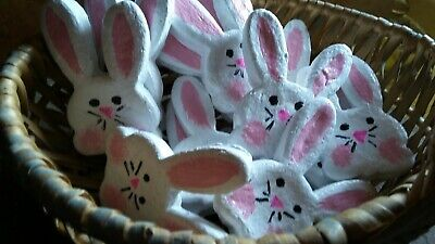 PRiMiTiVE ☆ FarmHouse ☆ Country ☆ Faux Fake Easter Bunny Bunnies Cookies Ornies