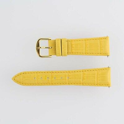 New Ladies Watch Band 2-Strap Yellow Alligator Leather 20 Short Buckle 27512203