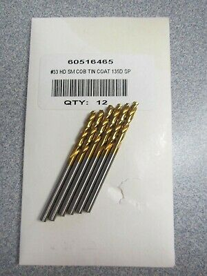 "NIB Besly 61//64/"" HSS Screw Machine Drills Surface Treated 118 Degree Point"