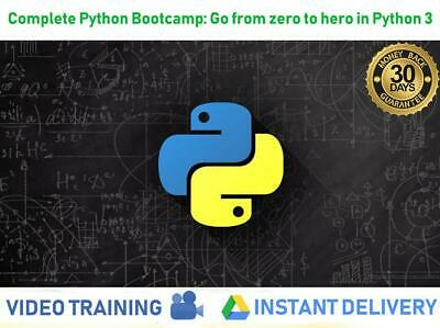 Python 3 Professional Video Course 186 lectures 24+ hours video | Udemy £194.99