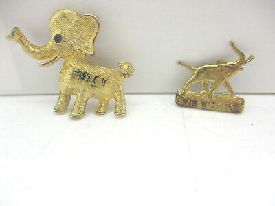 Vintage 'Win With Ike' & 'Percy' Republican Political Pins Estate Buy No Reserve