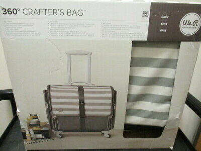 360 Crafter's Rolling Bag We R Memory Keepers Grey/White -  NEW