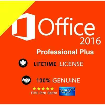 Instant Delivery__ Microsoft Office 2016 Professional Pro 32/64 Bit License Key
