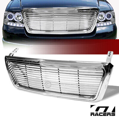 For 2004-2008 Ford F150 Truck Chrome Billet Style Front Hood Bumper Grill Grille