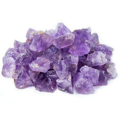 "UFEEL 1lb Bulk Rough Amethyst Crystal - Large 1"" Natural Raw Stones for..."