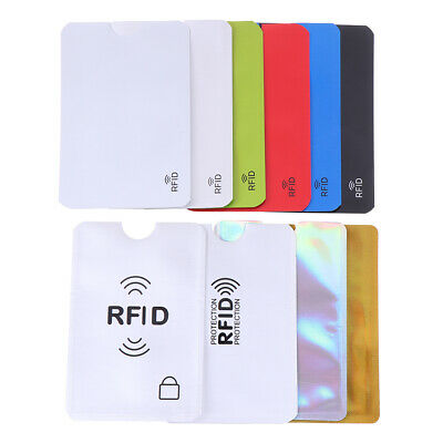 10X Credit Card Protector Secure Sleeve RFID Blocking ID Holder Foil Shield Fad