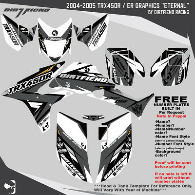 Sticker Decal Kit For TRX450R TRX 450R TRX450 fenders Tank Emblems Graphics Kit