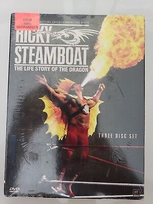 Ricky Steamboat The Life Story Of The Dragon 3-Disc Dvd Set Wwe Wrestling