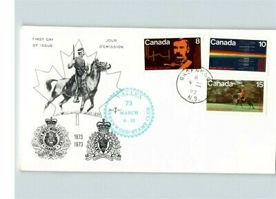 CANADA, Royal Canadian Mounted Police, 3 stamps, 1973 First Day of Issue, Nova S
