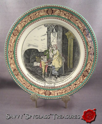 Vintage Adams Cries of London Pottery Plate Round & Sound Five Pence a Pound Duk