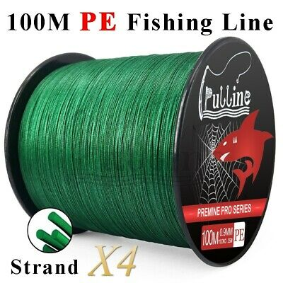 PULLINE 100M PE Fishing Line Strong 4 Strands Braided Fishing Line 6-100LB