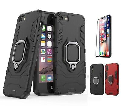 Shockproof Ring Stand Mount Rugged Hybrid Case Cover For iPhone Xs Max XR 7 8 +