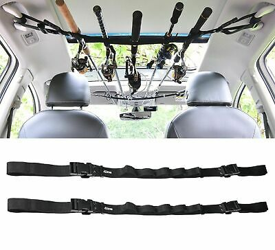 Car Fishing Rod Carrier Rod Holder Belt Strap With Tie Suspenders Wrap 5 Holes