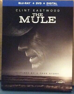Brand New the mule Bluray, dvd, Digital Clint Eastwood 2019 W Toby Kieth Video