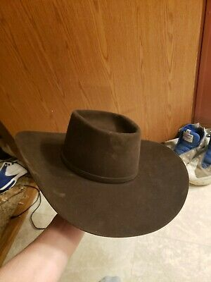 0a7094aa332ca american hat company cowboy hat 7 1 4 Chocolate Brown Long Oval. 10x