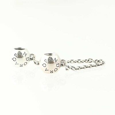 New Authentic Pandora Signature Safety Chain Sterling Silver 791877-05 Screw On