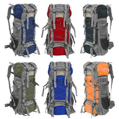 60L Outdoor Water Resistant Hiking Backpack Heavy Duty Luggage Rucksack Pack