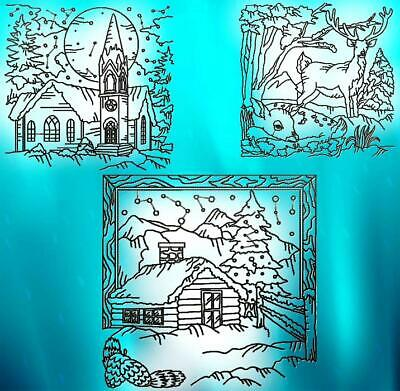 COUNTRY SNOW 9 MACHINE EMBROIDERY DESIGNS CD or USB