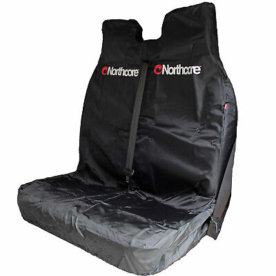 NORTHCORE Black Double Front Van Seat Cover - Heavy Duty NEW