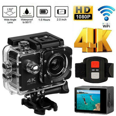 4K Ultra HD Sports Camera Action Camcorder 1080P DVR Video Recorder Wifi 2.0''