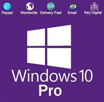 Windows 10 Pro 32/64-Bit Key Download Activation For 1 PC Genuine