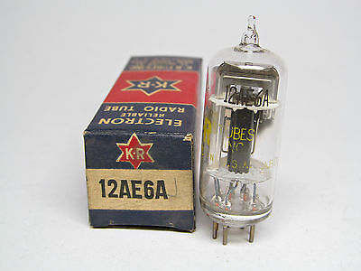 12Ae6A-12Ae6 A-Kr New York-12 Volt Plate & Heater-Nos-Box-Triode & Double Diode