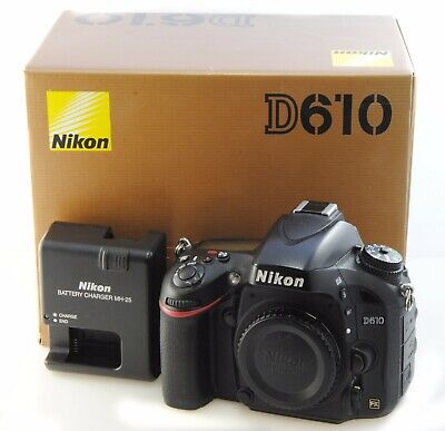 Nikon D610 Digital SLR Camera Full Frame FX Camera Body. Boxed with Charger