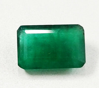 Rare 6.92 ct Certified Royal Green Brazil Natural Untreated Emerald From Jaipur