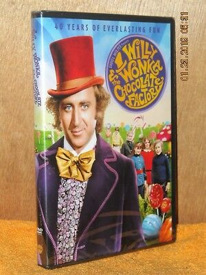 Willy Wonka and the Chocolate Factory (DVD, 2011, 40th Anniversay) Gene Wilder N