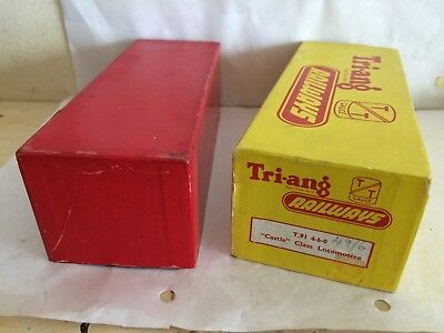 TRIANG TT T91 4-6-0 CASTLE CLASS LOCO YELLOW BOX ONLY RED BASE GC ROVEX 49/6d