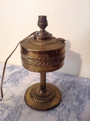 French Vintage Brass Style Oil Light Table Lamp (2450)