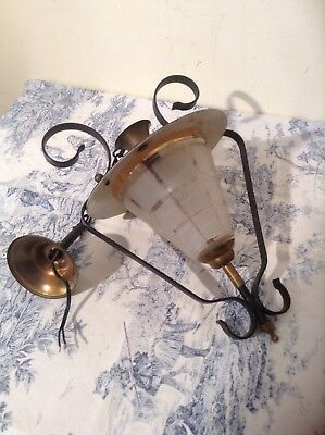 Vintage French Black Lantern Style Ceiling Light - Retro (2807)