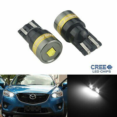2x W5W T10 CREE 5W High Power Sidelight Indicator Number Plate Light Bulbs White