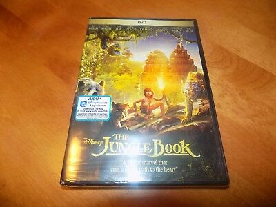 THE JUNGLE BOOK WALT DISNEY  Live Action Ben Kingsley Bill Murray DVD SEALED NEW