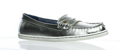 128ccd480 TOMMY HILFIGER WOMENS Ignaz Silver Multi Loafers Size 6 (108878 ...
