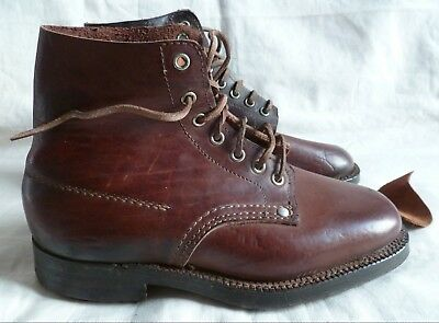1940 Brodequins Troupe Chaussures Cloutees Wwii France Uniforme 2° Guerre P40