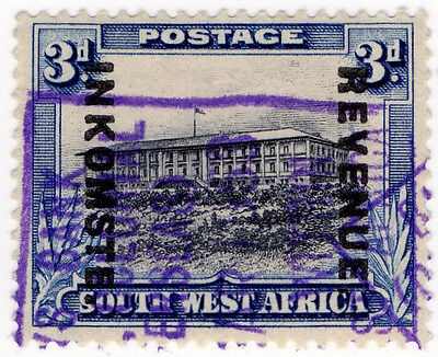 (I.B) South-West Africa Revenue : Duty Stamp 3d (1943)