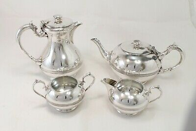 Walker & Hall Sheffield Silver Plated 4pc 2pint Tea & Coffee Set No.17070