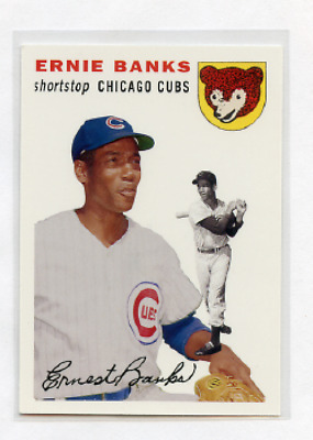 2006 Topps Baseball Rookie Of The Week # 4 Ernie Banks Chicago Cubs